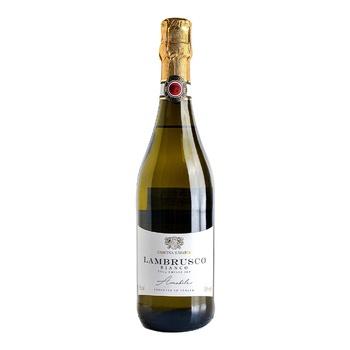 Вино игристое Cascina S.Maria Bianco Amabile Lambrusco dell'Emilia белое полусладкое 7.5% 0,75л - купить, цены на Novus - фото 1