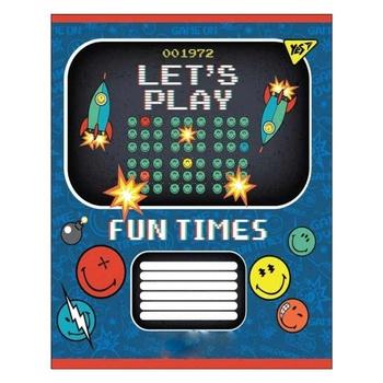 Ттрадь Yes Smiley Fun Times школьная А5 12 страниц косая линия - купить, цены на Novus - фото 1