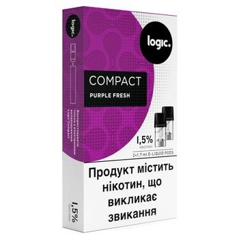 Картридж Logic Compact PurpleFresh для POD систем 1,5% 2шт - купить, цены на Novus - фото 1