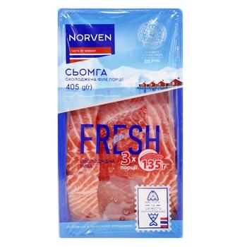 Семга Norven охлажденная филе-порции на коже 405г