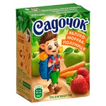 Sadochok Apple-carrot-strawberry Juice with Pulp 0,2l