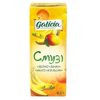 Galicia Smoothie Apple-Banana-Mango-Orange juice 200ml - buy, prices for Auchan - image 1