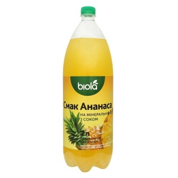 Biola Carbonated Mineral Water Drink with Pineapple Flavor 2l - buy, prices for Novus - image 1