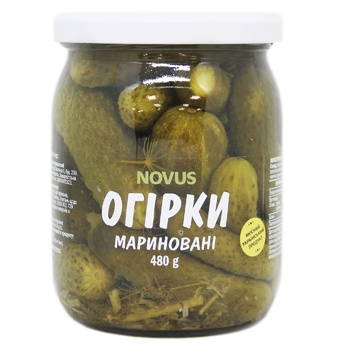 Novus Pickled Pasteurized Cucumbers 480g