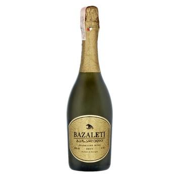 Вино игристое Bazaleti белое брют 12% 0,75л