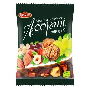 Асорті Аромікс фруктово-горіхове 200г - купити, ціни на Ашан - фото 1