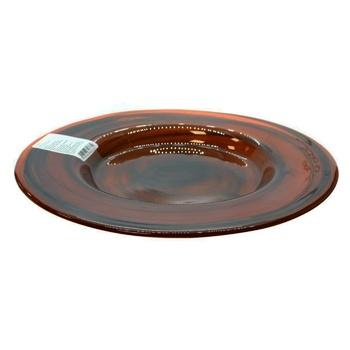 Тарілка Atlas 27,5*2 см темно-коричневий - купить, цены на Novus - фото 1