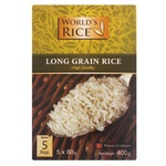 Рис World`s Rice В'єтнамський довгозернистий шліфований в пакетиках 400г