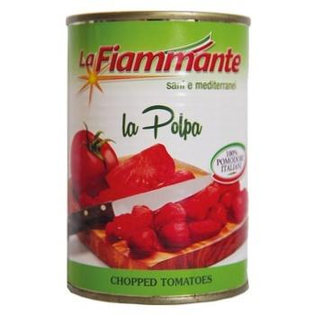Томати La Fiammante очищені у власному соку 400г - купити, ціни на Novus - фото 1
