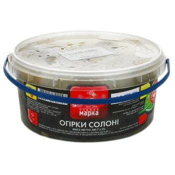 Vegetables cucumber Chudova marka salt 300g bucket - buy, prices for Novus - image 1