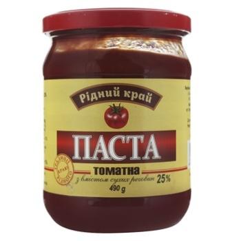 Паста томатная Родной край 25% 490г