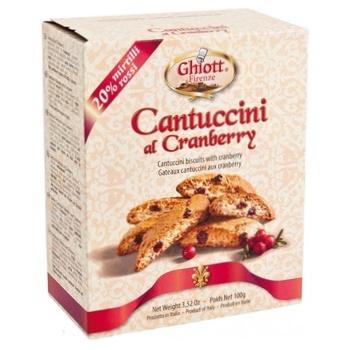 Печенье Ghiott Сantuccini миндальное с клюквой 200г - купить, цены на СитиМаркет - фото 1