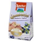 Вафлі-кубики Loacker Quadratini Blueberry-Yoghurt з чорнично-йогуртовою начинкою 110г