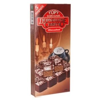 Торт вафельный Домашне свято со вкусом шоколада 200г