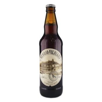 Пиво Senojo Vilniaus Dark темное 5,6% 0,5л - купить, цены на Novus - фото 1