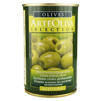 Оливки зелені Arte Oliva без кісточки 300г - купити, ціни на Novus - фото 1
