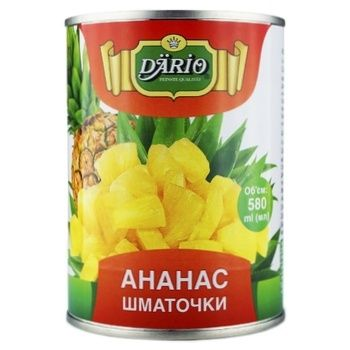 Dario In Syrop Pineapple Pieces 580ml - buy, prices for Novus - image 1