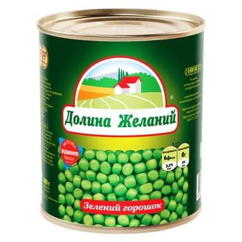 Горошок Долина Бажань зелений 850мл - купити, ціни на Novus - фото 1