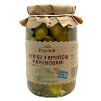 Dworek-1905 With Dill Cucumbers 860g - buy, prices for Novus - image 1