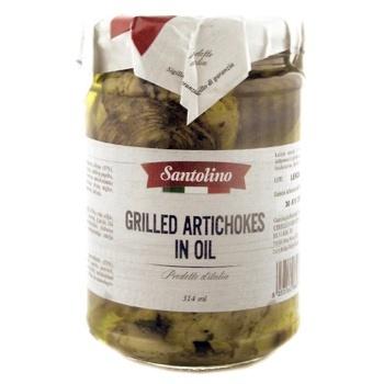 Артишоки Santolino смажені на грилі в соняшниковій олії консервовані пастеризовані