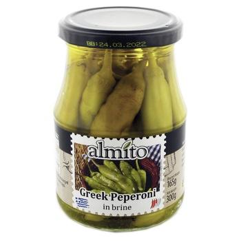 Пеперони Almito греческие в рассоле 320мл - купить, цены на Novus - фото 1