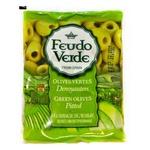 Оливки зеленые Feudo Verde без косточки 170г
