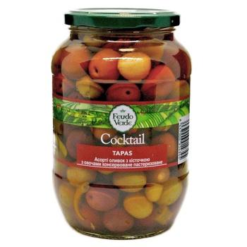 Асорті оливок з овочами Feudo Verde 840г - купити, ціни на Novus - фото 1