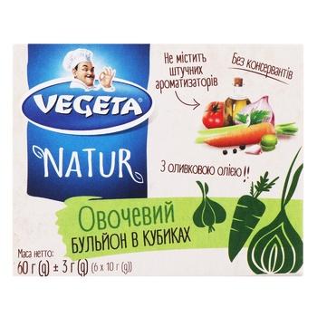 Бульон в кубиках Vegeta Natur овощной 60г - купить, цены на МегаМаркет - фото 1