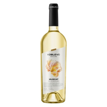 Koblevo Muscat White Semi-Sweet Wine - buy, prices for Auchan - photo 1