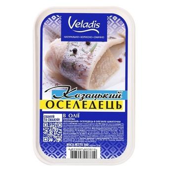 Сельдь Veladis Казацкая филе-кусочки в масле 300г