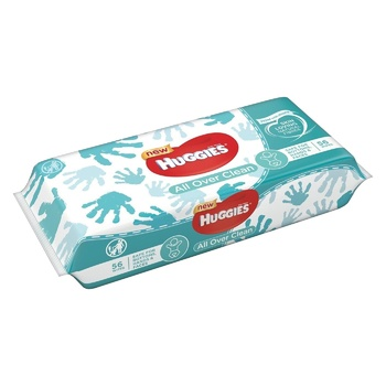 Huggies All Over Clean Wet Wipes 56pcs - buy, prices for CityMarket - photo 3