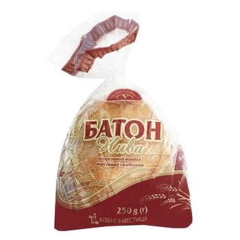 Батон Царь Хлеб Нива нарезанный в упаковке половинка 250г