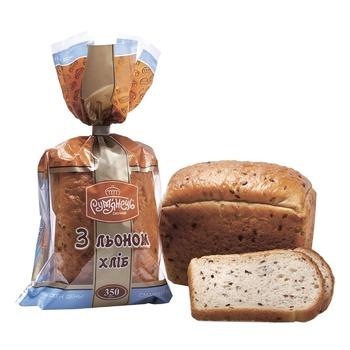 Хлеб Румянец с леном нарезной 350г - купить, цены на МегаМаркет - фото 1