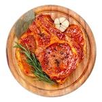Chilled With Bone In Marinade Pork Loin Steak