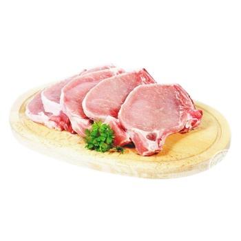 Стейк свиной из корейки охлажденный с костью