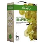 Вино Shabo Шардоне біле сухе ординарне столове сортове 13% 3л