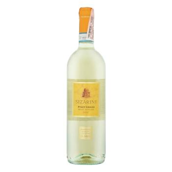 Sizarini Pinot Grigio Veneto IGT white dry wine 11,5% 0,75l - buy, prices for CityMarket - photo 1