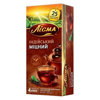 Чай черный Лисма Индийский Крепкий 25шт 1,8г - купить, цены на ЕКО Маркет - фото 1