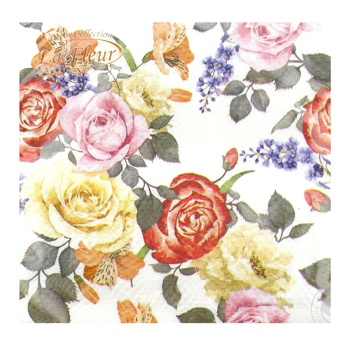 Салфетки La Fleur Странные розы двухслойные 33x33см 15шт