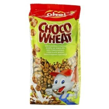 Oho Puffed Wheat Grains with Chocolate Dry Breakfast 150g