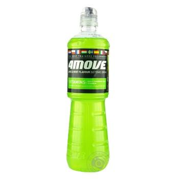 Напиток безалкогольный 4Move Mint&Lime изотонический негазированный спортивный 0,75l
