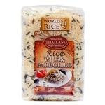 Рис World's Rice дикий и парбоилд длиннозерный шлифованный пропаренный 500г