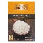 World's Rice Egypt in Packages Polished Round Rice 400g