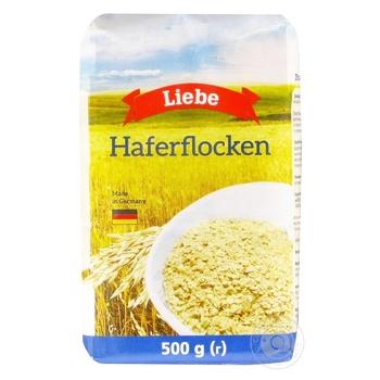 Хлопья овсяные Liebe 500г