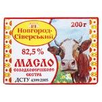 Масло Новгород-Северский Селянское сладкосливочное 82,5% 200г