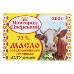 Масло Новгород-Сіверський Селянське солодковершкове 73% 200г