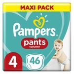 Подгузники-трусики детские Pampers Pants Maxi 9-15кг 46шт