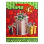 Пакет паперовий Happycom різдвяний XGBMB 18х22см