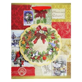 Пакет бумажный Happycom рождественский XGBMB 18х22см - купить, цены на Таврия В - фото 4