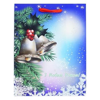 Пакет паперовий Happycom різдвяний XGBMB 18х22см - купити, ціни на Фуршет - фото 3